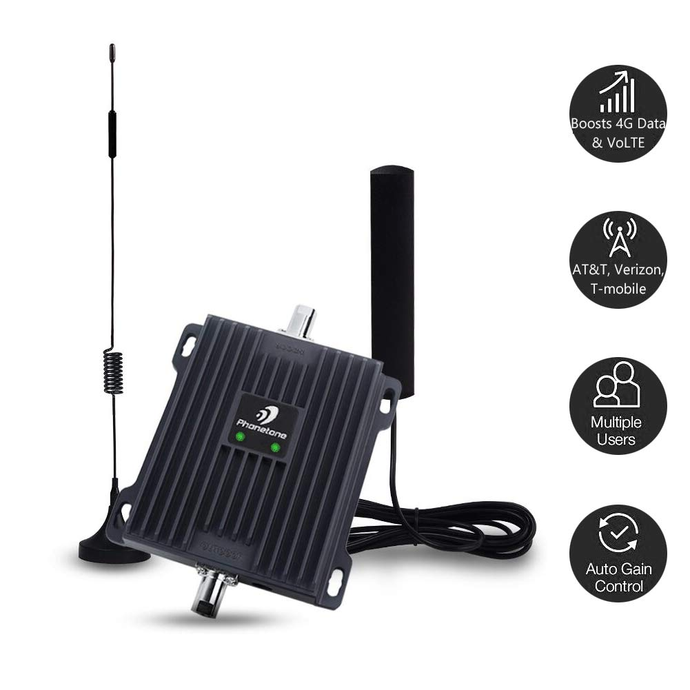 Phonetone Cell Phone Signal Booster for Car, RV and Truck
