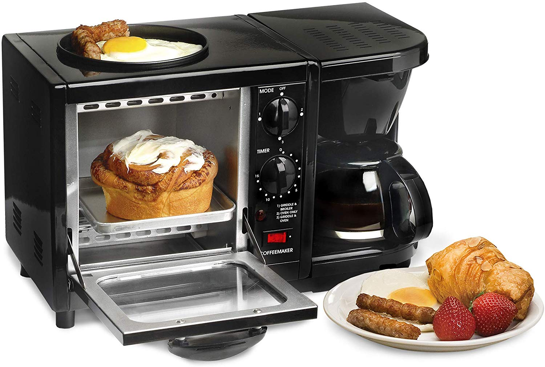 Elite Cuisine Maxi-Matic 3-in-1 Multifunctional Cooker Breakfast Center